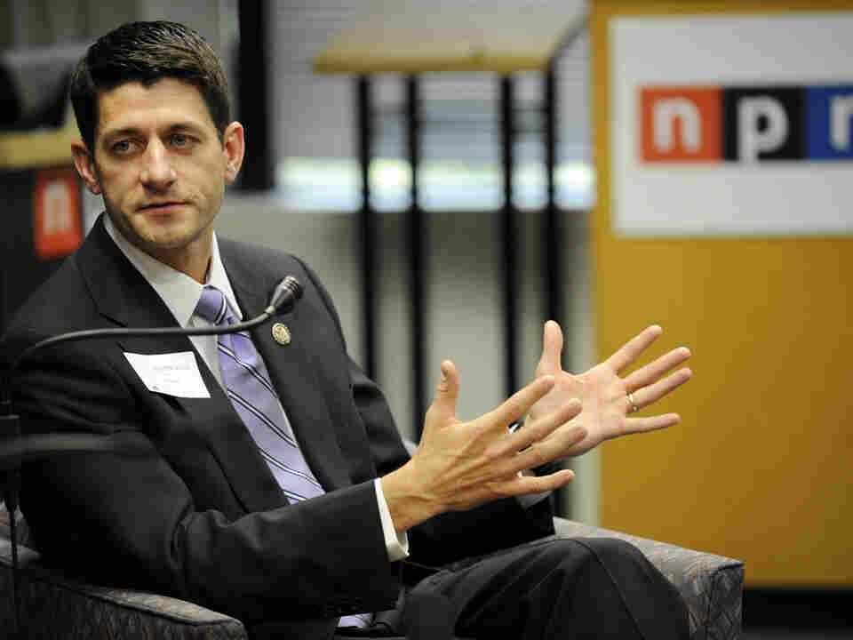 Rep. Paul Ryan (R-WI) at NPR headquarters in May.