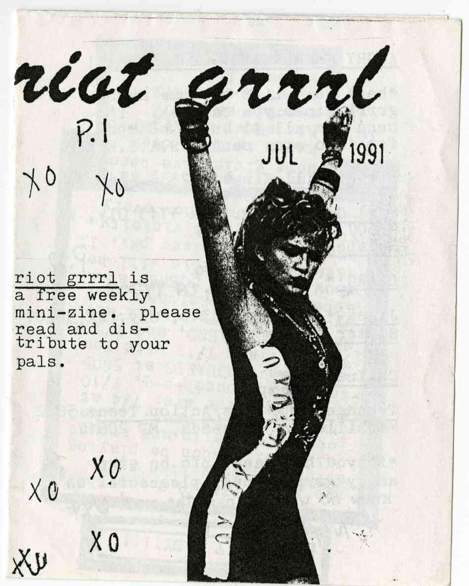 The cover of the first Riot Grrrl 'zine.