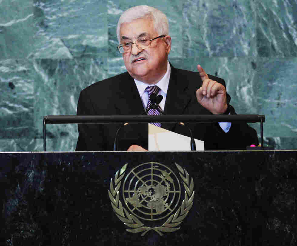 Palestinian Authority President Mahmoud Abbas speaks during the United Nations General Assembly in New York City.