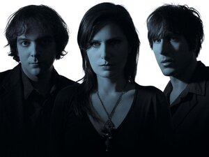Ivy's new album is All Hours. Left to right: Adam Schlesinger, Dominique Durand, Andy Chase.