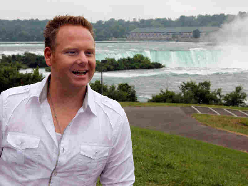 Tightrope walker Nik Wallenda in Niagara Falls, N.Y. The daredevil and his technical team met with emergency responders and others Wednesday to talk about his proposed high-wire walk over the falls.