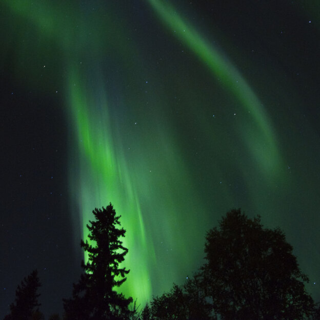 Aurora borealis as seen from Fairbanks, Alaska