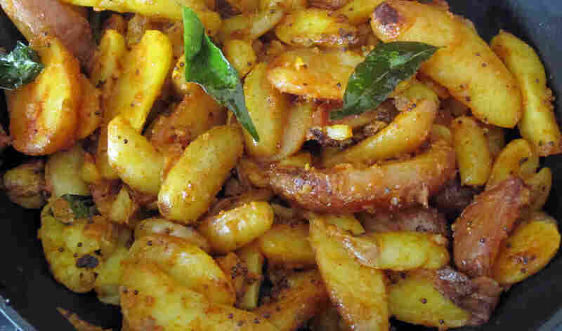 Julie Sahni's Hot Curry Leaf Potatoes