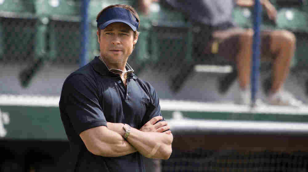 Brad Pitt plays Billy Beane, the general manager of the Oakland A's, in the movie Moneyball.