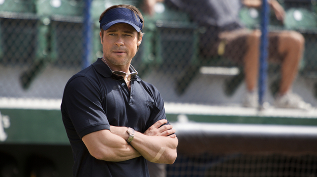 Brad Pitt plays Billy Beane, the general manager of the Oakland A's, in the movie Moneyball. (Sony Pictures)