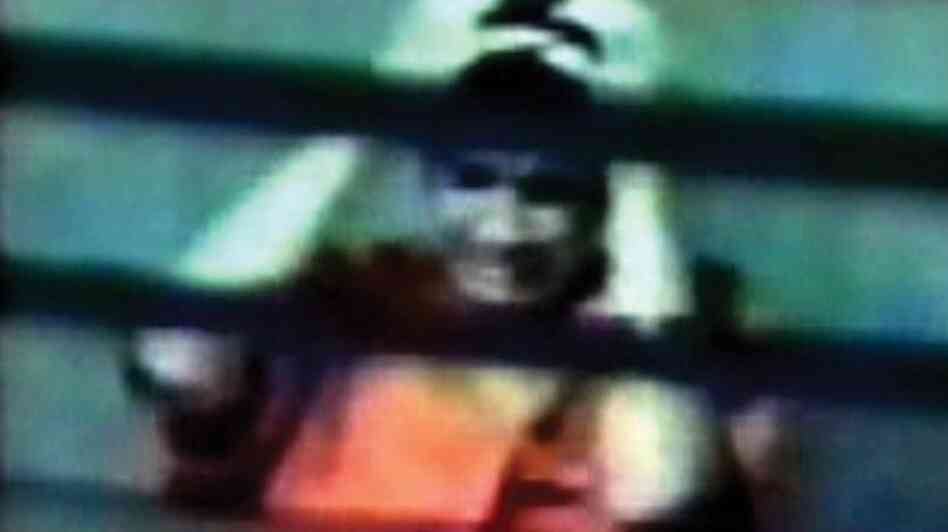 This photo, taken from a 2003 U.S. Department of Defense surveillance video, was released by Omar Khad