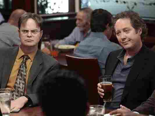 James Spader (right) officially joins the cast of NBC's The Office after guest starring in last season's finale.