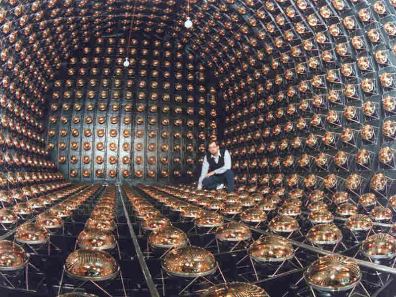 A neutrino detector like this one, seen at Los Alamos National Laboratory in 1995, was used to collect data claiming that neutrinos can travel faster than the speed of light.