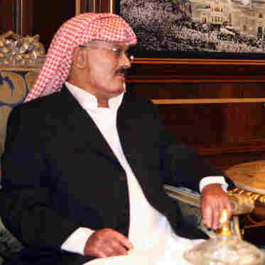 Yemeni President Ali Abdullah Saleh in Riyadh on Sept. 19, 2011.
