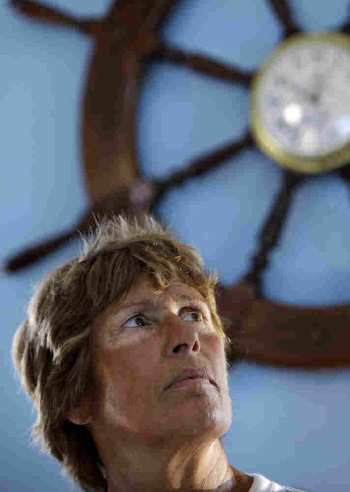 U.S. swimmer Diana Nyad gives a press conference to announce her swim from Cuba to Key West, Florida, in Havana, Cuba, on Friday.