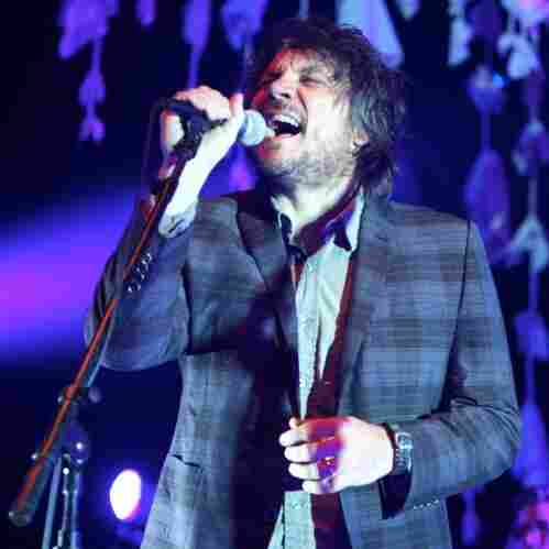 Wilco's Jeff Tweedy. The band performed live at the Merriweather Post Pavilion in Columbia, MD.