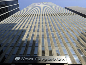 The News Corp. headquarters in New York City.