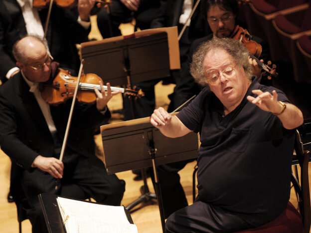 James Levine, conducting the BSO from his chair in this 2007 file photo.
