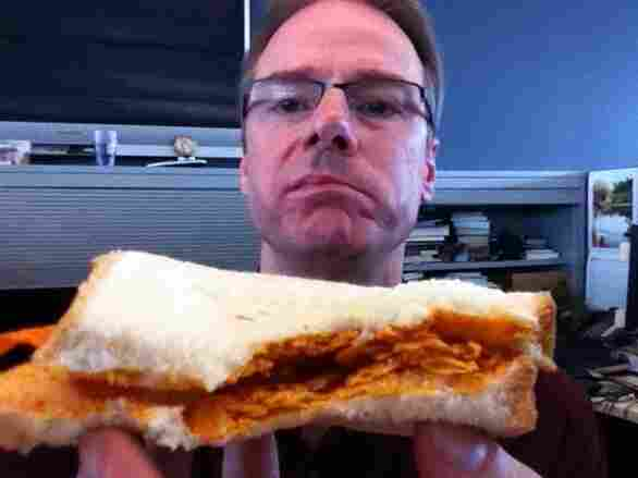 Robert, with sandwich.