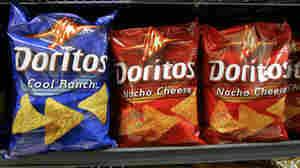 Doritos chips on a store shelf in California.