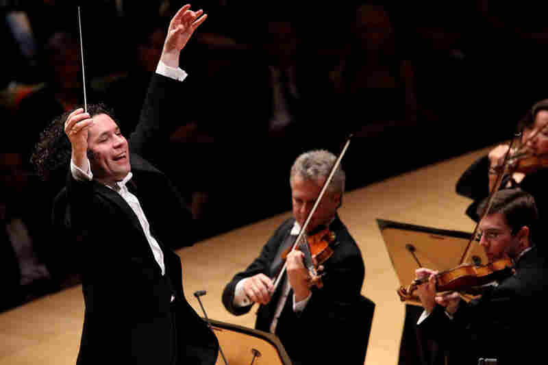 The exuberant Gustavo Dudamel leads an all-Gershwin opening night gala with the LA Philharmonic on Tuesday.