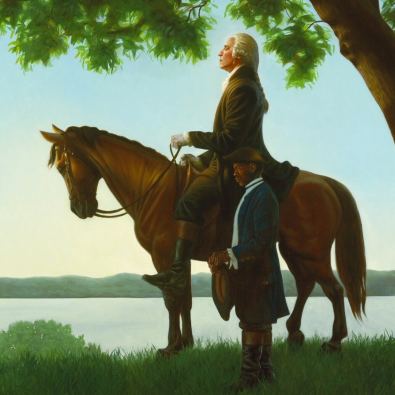 Kadir Nelson uses light to explore the irony of an new nation celebrating freedom and independence while keeping slavery legal.