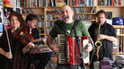 The Klezmatics perform at a Tiny Desk Concert at the NPR Music offices on Sept. 19, 2011.