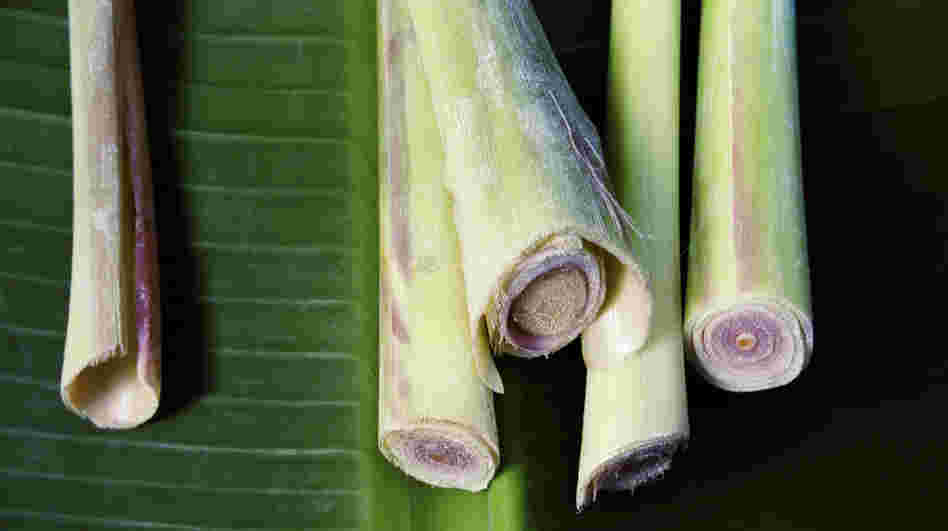 Lemongrass stalks, when finely chopped, add a unique citrusy note to Thai cuisine.
