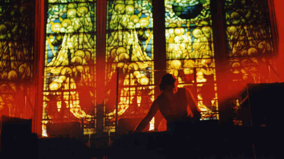 A scene from Limelight: a DJ performing at Peter Gatien's club.