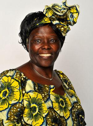 Nobel Peace Prize laureate Wangari Maathai in 2009.