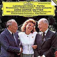 Cover art for Anne-Sophie Mutter's Lutoslawski album.