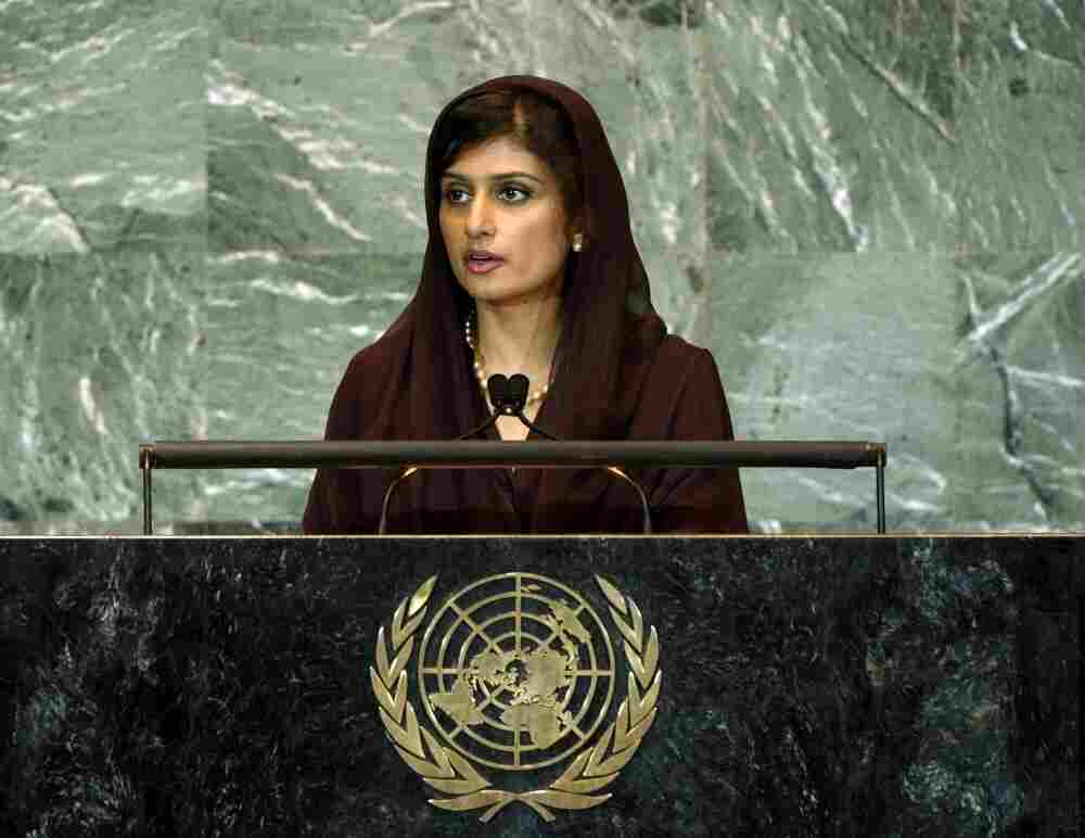 Hina Rabbani Khar, Minister for Foreign Affairs of Pakistan, addresses the United Nations' 66th General Assembly on Sept. 27.