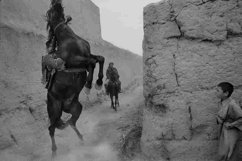 Horsemen of the village, Balkh Province, 2004
