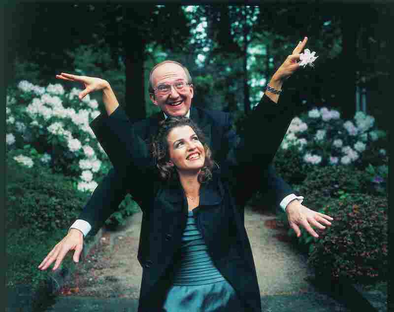 Clowning with pianist Lambert Orkis.