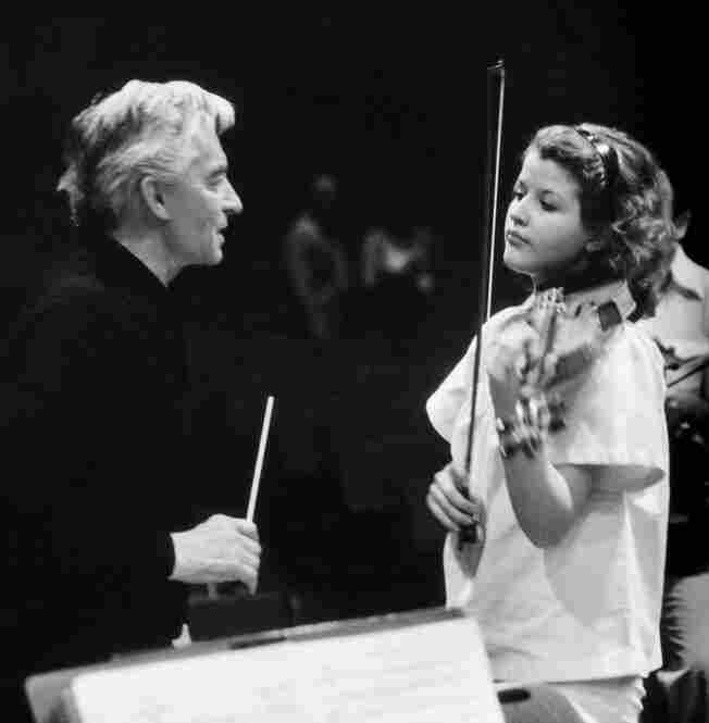 The first recording sessions (Mozart Violin Concertos nos. 3 & 5) with Herbert Von Karajan and the Berlin Philharmonic, February, 1978.