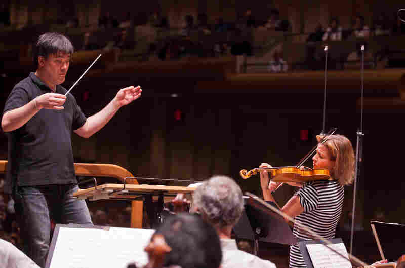 With New York Philharmonic conductor Alan Gilbert.