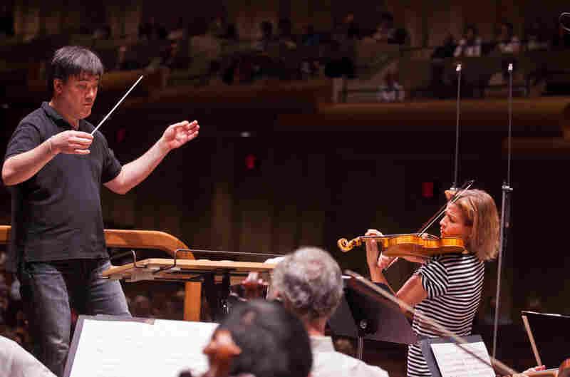 With New York Philharmonic conductor Alan Gilbert.