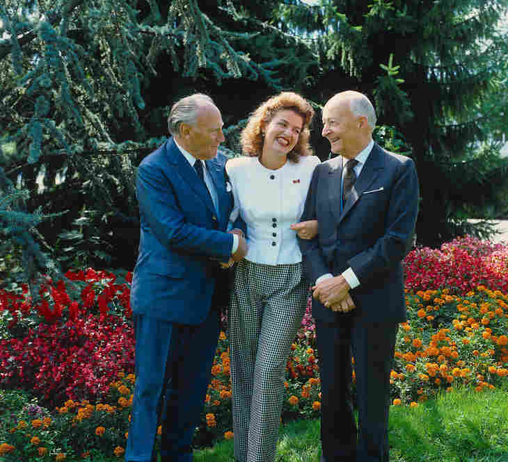 With Witold Lutoslawski and Paul Sacher in London, 1988.