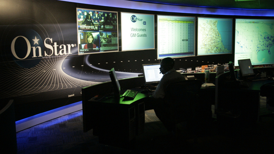 At the OnStar command center in Detroit. (AP)