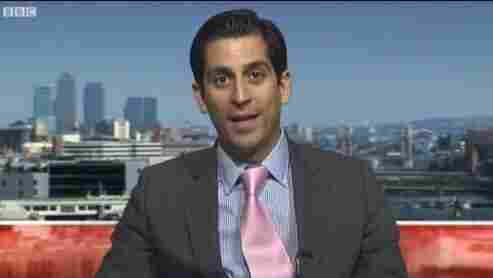 Alessio Rastani during his appearance this week on the BBC.