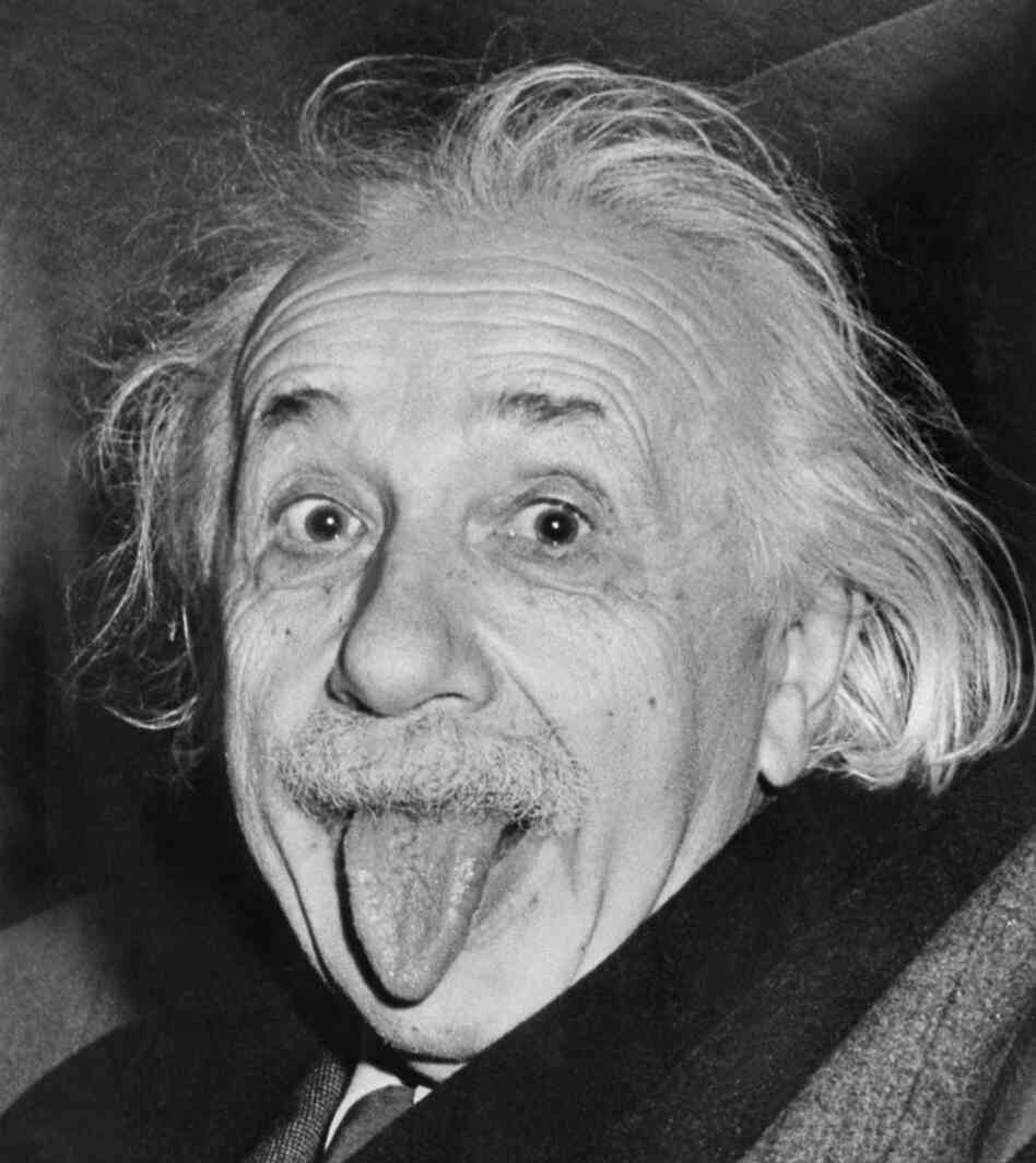 Albert Einstein celebrates his ability to stand the test of time on his 72nd birthday in March 1951.