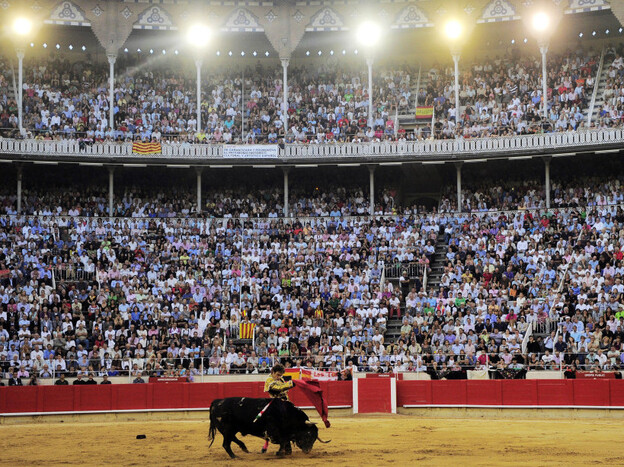 Spanish matador Jose Tomas performs Sept. 25 at the Monumental bullring in Barcelona, Spain, in the final bullfight to be held in the Spanish region of Catalonia. Lawmakers in the region voted last year to ban the practice.