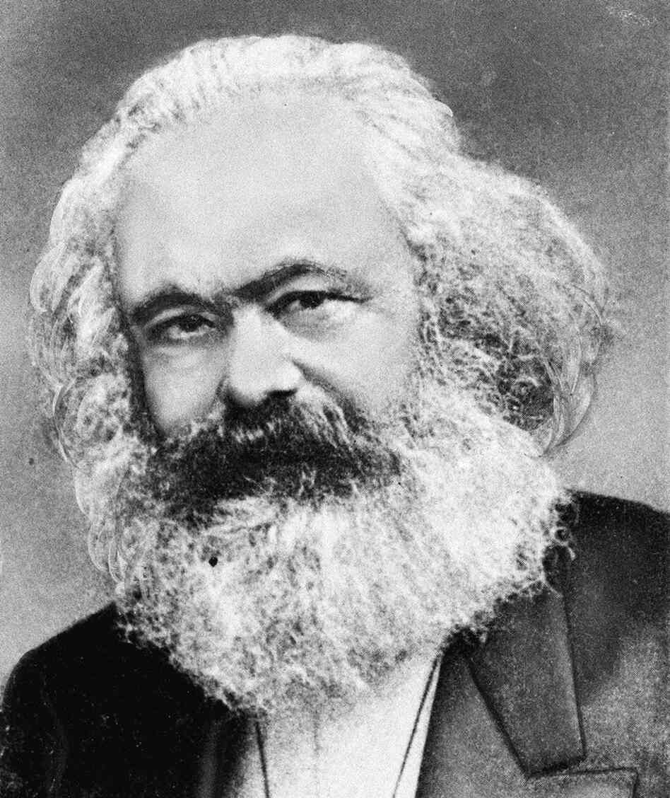 "In the Communist Manifesto, Karl Marx (above) and Friedrich Engels used the German word Klassenkampfen, which translates as ""class struggles."" Their critics rendered it as ""class warfare."""