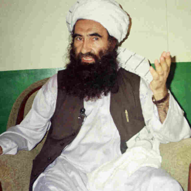 Jalaluddin Haqqani, founder of the Haqqani Network, speaks during an interview in Miram Shah, Pakistan, in 1998. His militant network has thrived and is now considered the No. 1 threat to American troops in Afghanistan.