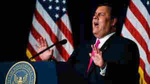 New Jersey Gov. Chris Christie kept his fans guessing about whether he'll make a run for president during an appearance Tuesday night at the Ronald Reagan Presidential Library and Museum in Simi Valley, Calif.