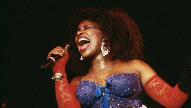 Rock and Roll Hall of Fame nominee Chaka Khan onstage in London in 1985.