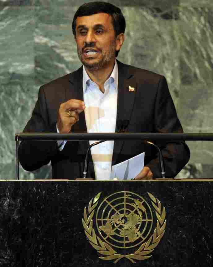 Iranian President Mahmoud Ahmadinejad at the U.N. last week.