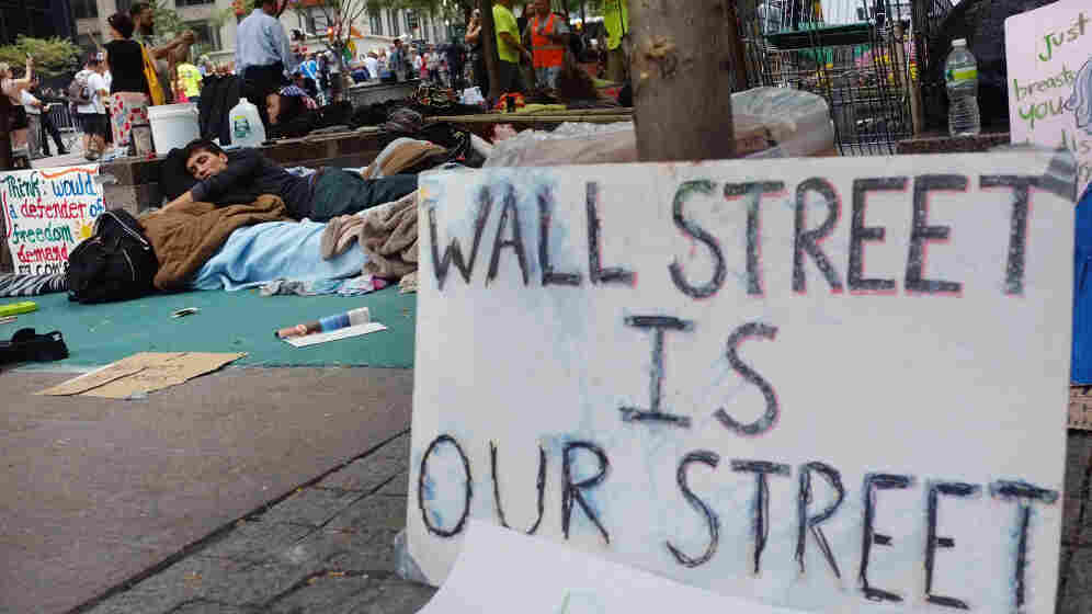 """At the """"Occupy Wall Street"""" demonstration in the financial district near Wall Street on Monday (Sept. 26, 2011)."""