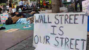 "At the ""Occupy Wall Street"" demonstration in the financial district near Wall Street on Monday (Sept. 26, 2011)."