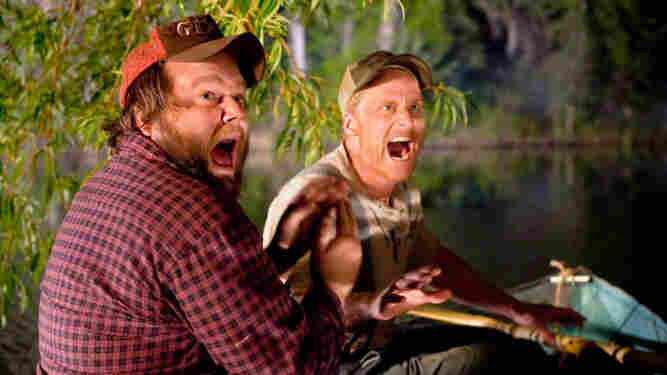 Grating Expectations: Dale (Tyler Labine, left) and Tucker (Alan Tudyk) are two West Virginia buddies who just want to fix up their fishing shack — so naturally, a pack of college-age campers turn up and take them for psychopaths.