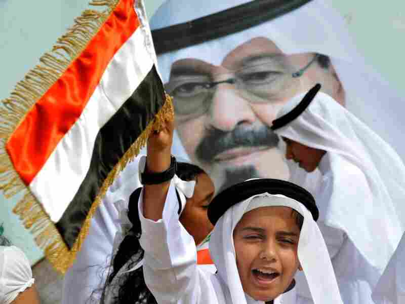 Saudi children celebrate as they greet the convoy transporting King  Abdullah bin Abdul Aziz (picture) upon his arrival in the Saudi capital  Riyadh on Feb. 23, 2011. The king arrived in his homeland after  three months abroad, boosting social benefits for his people as he  returned to a Middle East rocked by anti-regime uprisings.