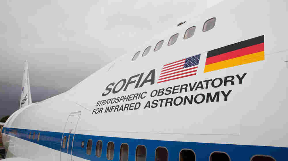 The Stratospheric Observatory for Infrared Astronomy, known as SOFIA, is a modified Boeing 747 airplane that houses a NASA telescope.