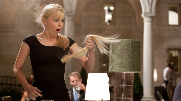 Hair-don't: Anna Faris is on fire in What's Your Number? -- even if the material is mostly damp squib.