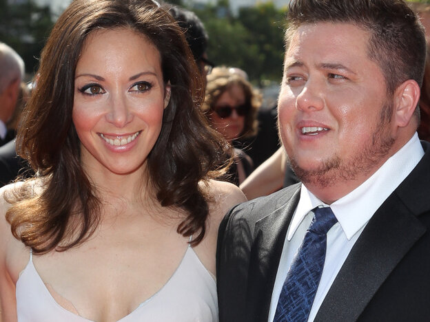 Chaz Bono (R) and Jennifer Elia attend an awards ceremony in Los Angeles earlier this month.