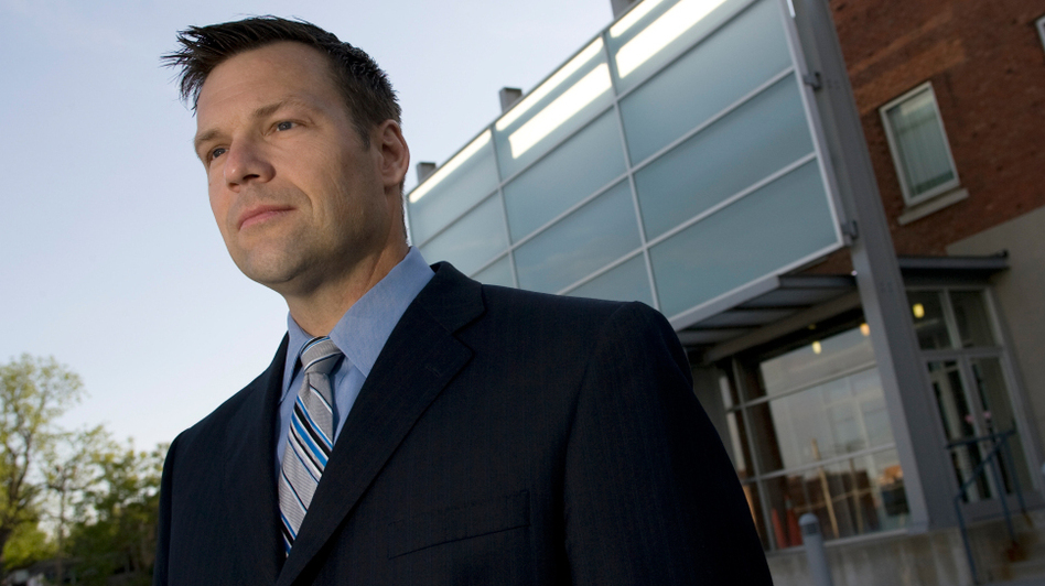 """Kansas Secretary of State Kris Kobach says the Sept. 11, 2001, terrorist attacks energized him around the issue of illegal immigration. """"We discovered that five of the 19 hijackers had been in the country illegally,"""" Kobach says."""